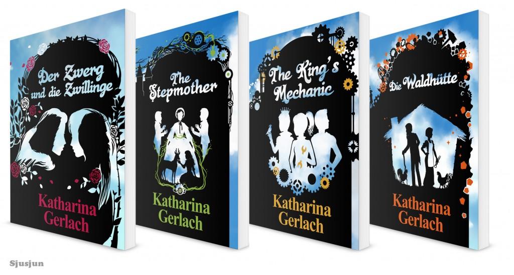 4 of Katharina Gerlach's boek omslagen