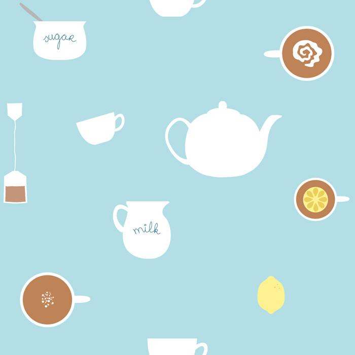 Preview illustration of teatime pattern