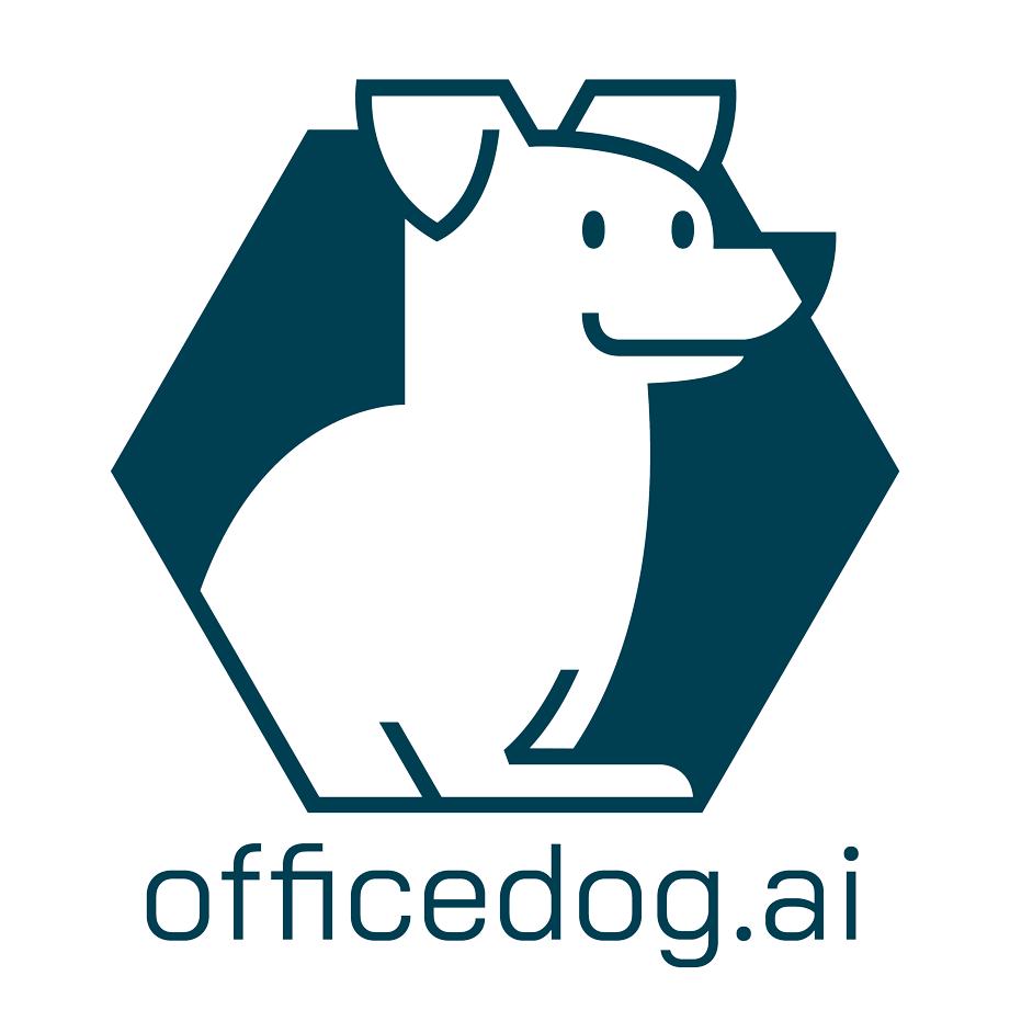 officedog met typografie eronder