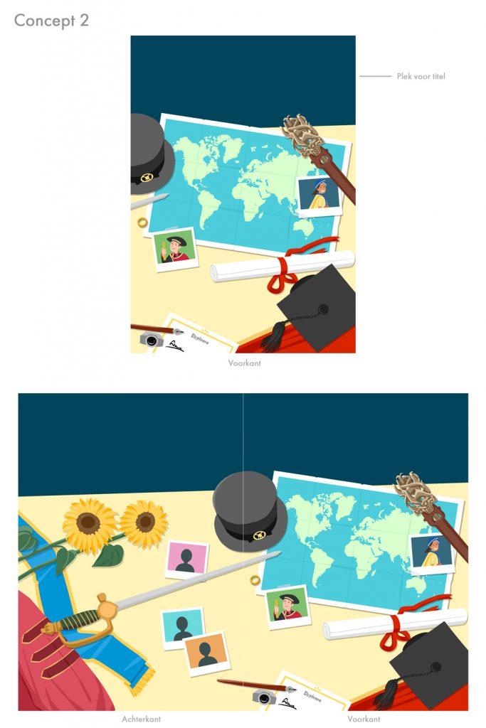 Concept 2 van de omslag van het boek